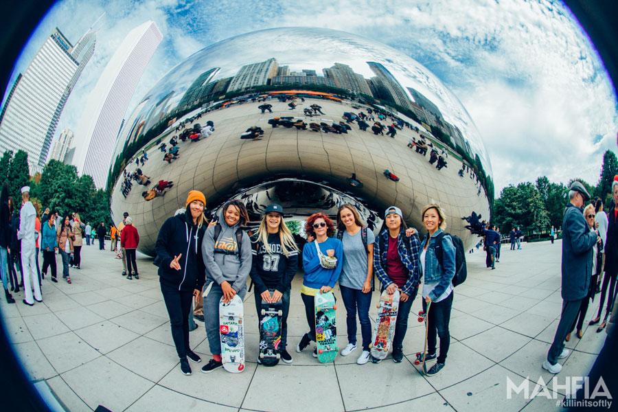 L to R: Kim Woozy, Samarria Brevard, Alana Smith, Vanessa Torres, Mimi Knoop, Nam-Chi Van, YuLin Olliver