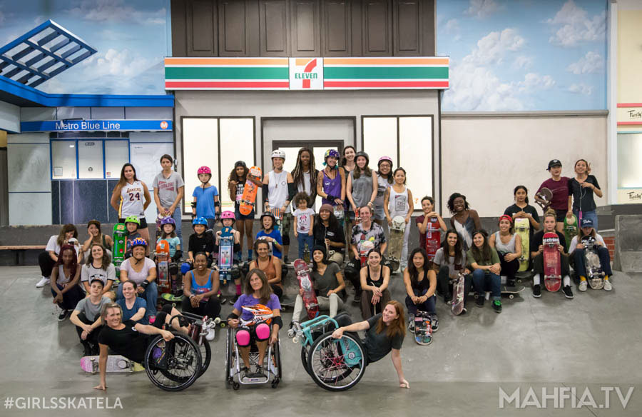 Girls Skate LA Session at The Berrics | Photo by Andrew Stencil