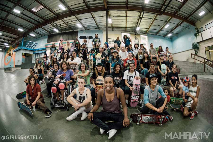 Girls Skate LA Session at The Berrics July | Photo by Zorah Olivia