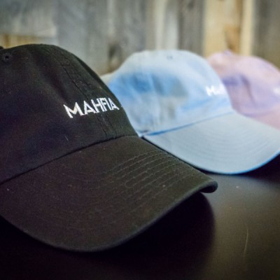 Mahfia Embroidered Hat - Black, Baby Blue, Lavender