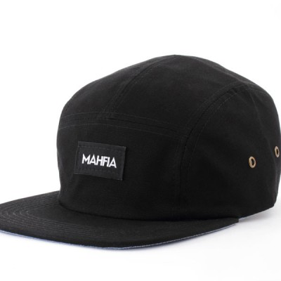 Mahfia Five Panel Hat Black