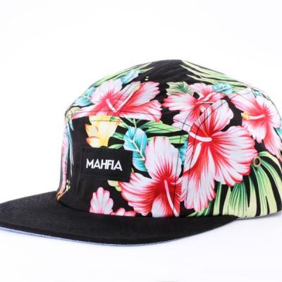 Mahfia Five Panel Hat Tropical Floral